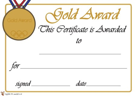 Dyplom dla wybitnego sportowca