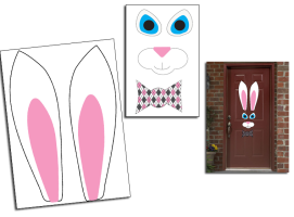 Wielkanocna dekoracji drzwi