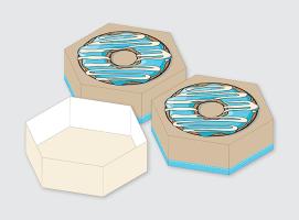 Pudełka na donut-y